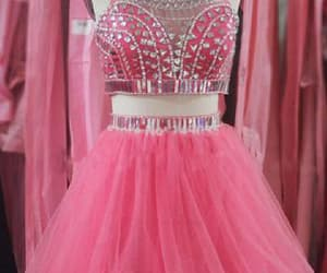 pink prom dress, cute prom dress, and short homecoming dresses image