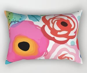 Abstract Floret Rectangular Pillow