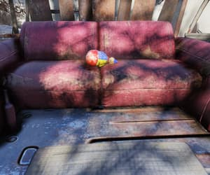 clown, couch, and filth image