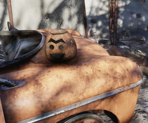 fallout, Halloween, and old car image