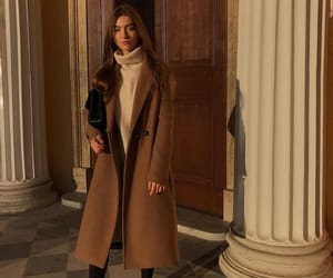 outfit, chic, and coat image