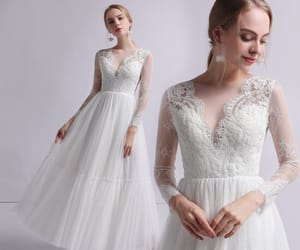 bridal, bridal gown, and bride image