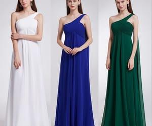 long dress, wedding party dresses, and chiffon bridesmaid dress image