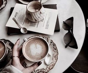 coffee, croissant, and food and drink image