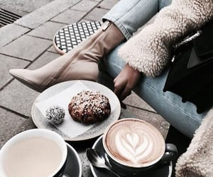 boots, fashion, and coffee image