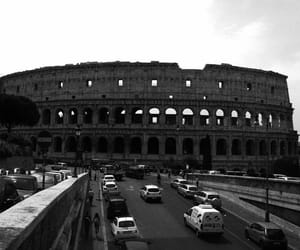 black and white, city, and colosseum image
