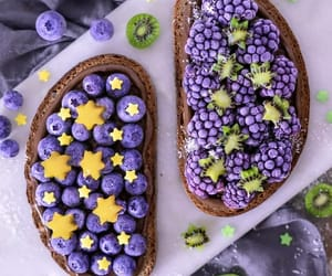 blueberry, cake, and christmas image