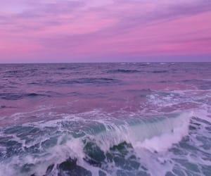 purple, sea, and pink image