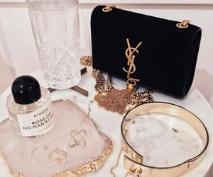YSL, bag, and gold image