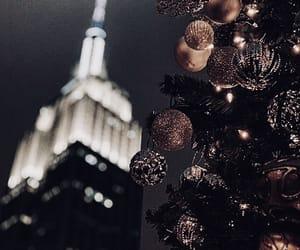 christmas, lights, and nyc image