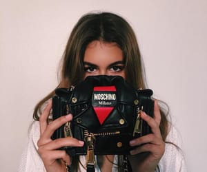 kaia gerber, model, and Moschino image