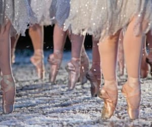 ballet, ballerina, and snow image