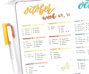 notes, planner, and bullet journal image