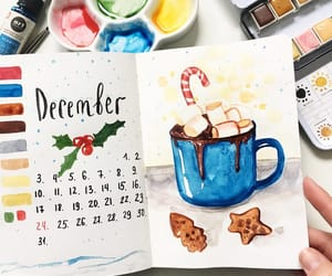 christmas, illustration, and watercolour image