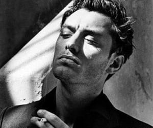 jude law, black and white, and photography image