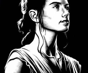 star wars, rey, and reynsolo image
