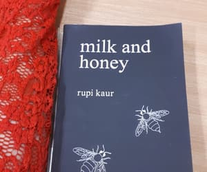 book, milk and honey, and poem image