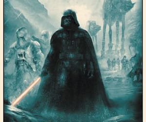 art, darth vader, and empire image