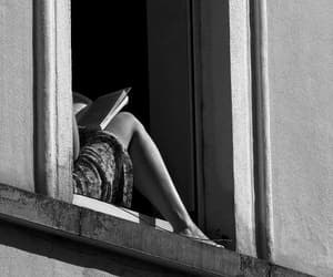book, black and white, and girl image