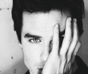 black and white, ian somerhalder, and ian image