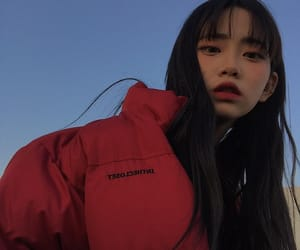 red, ulzzang, and cute image