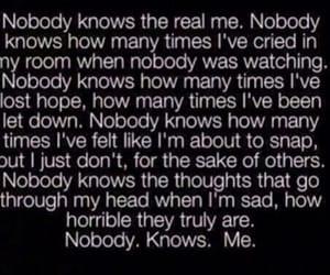 sad, quotes, and nobody image