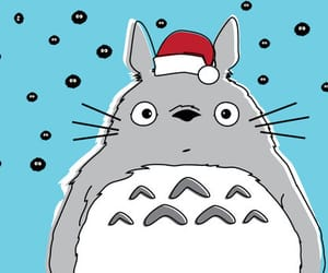 totoro, christmas, and anime image