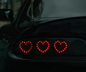 car, heart, and red image