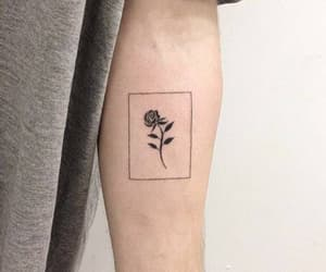 tattoo, rose, and alternative image