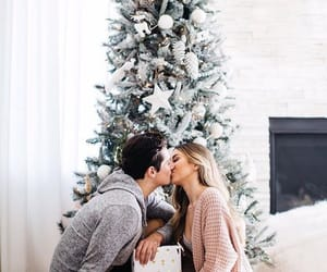 couple, christmas, and love image