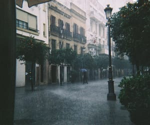 rain, street, and city image