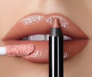 brown, lips, and gloss image