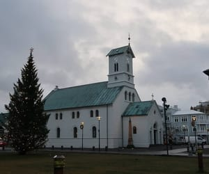 christmas, church, and iceland image