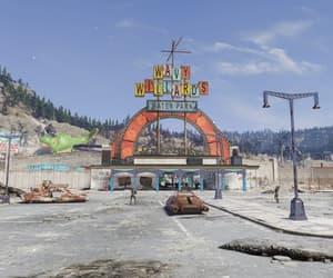 amusement park, fallout, and parking lot image