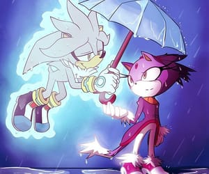 silver the hedgehog, Sonic the hedgehog, and blaze the cat image