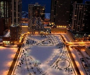 chicago, snow, and winter image