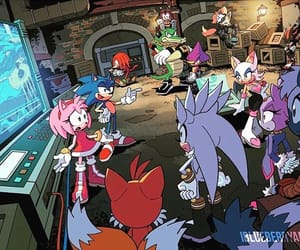 knuckles, sonic, and Sonic the hedgehog image