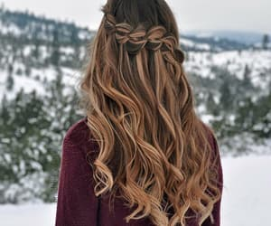 christmas, hairstyle, and winter image