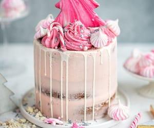 cake, christmas, and desserts image