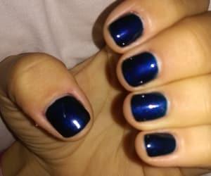 blue, μανικιούρ, and ημιμονιμο image