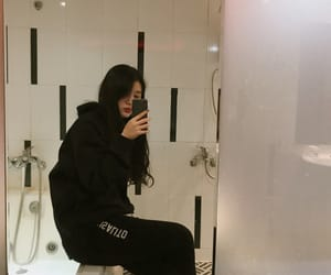 aesthetic, asian, and black image