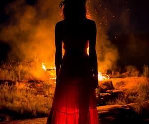 fire and red image