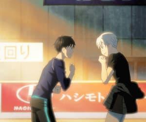 gif, yuuri katsuki, and victor nikiforov image