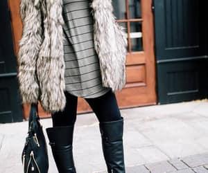 furry vests, chunky coats, and fur coat hijab image