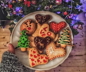 art, christmas, and food image