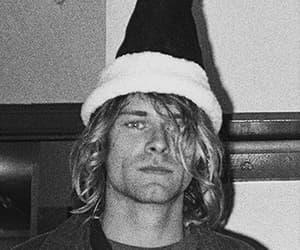 kurt cobain, nirvana, and christmas image