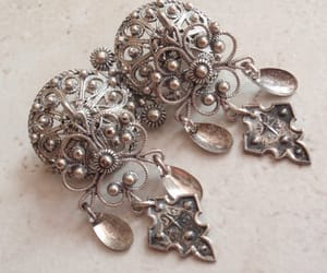 etsy, made in norway, and filigree brooch pin image