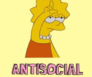 antisocial, lol, and yellow image