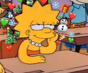 simpsons, christmas, and lisa image