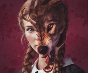 girls, wolf, and aykutmaykut image